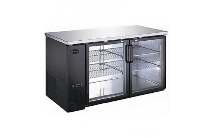 27u2033 Depth 58u2033 Two Glass Door Back Bar Refrigerator