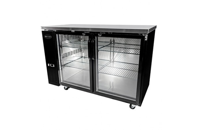 24″ Depth 60″ Two Glass Door Back Bar Refrigerator