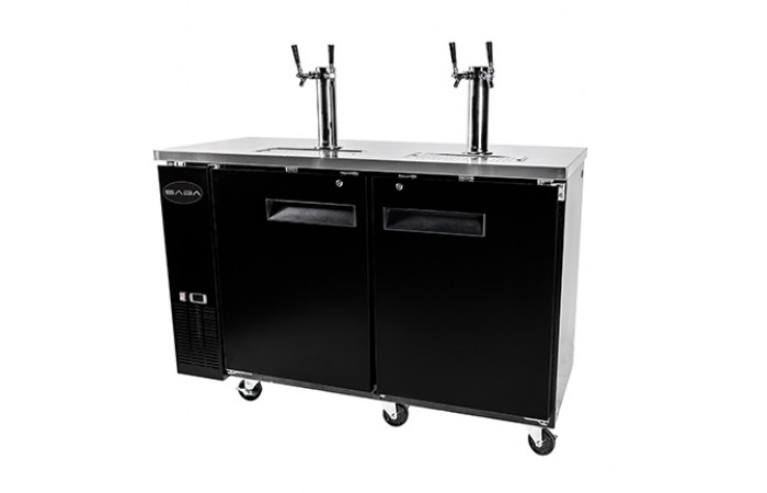 60″ Beer Dispenser with (2) Double Tap